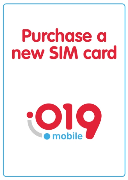Picture of Purchase a new SIM 019 without charging