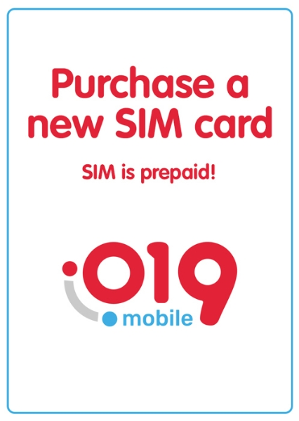 """Picture of Purchase new prepaid """"019"""" local SIM card starting at"""