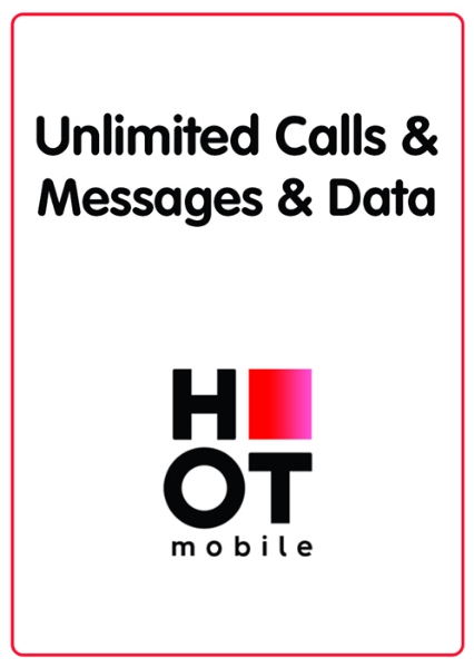 Picture of Hot Mobile unlimited calls and messages + 150GB Data